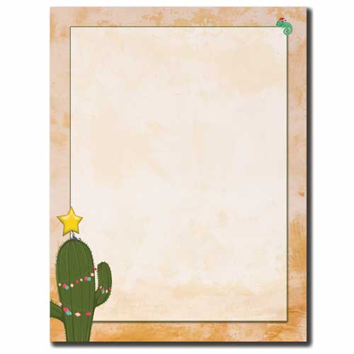 Christmas-Cactus-Christmas-Southwest-Letterhead-Border