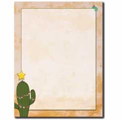 Christmas Cactus Letterhead - 100 pack