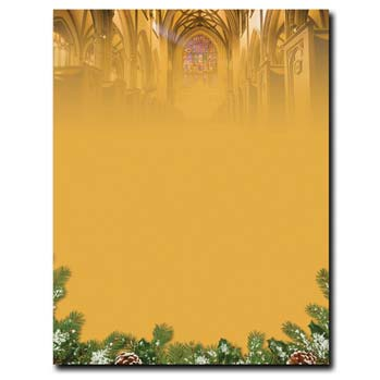 Christmas Cathedral Letterhead