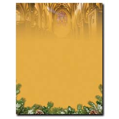 Christmas Cathedral Letterhead - 25 pack
