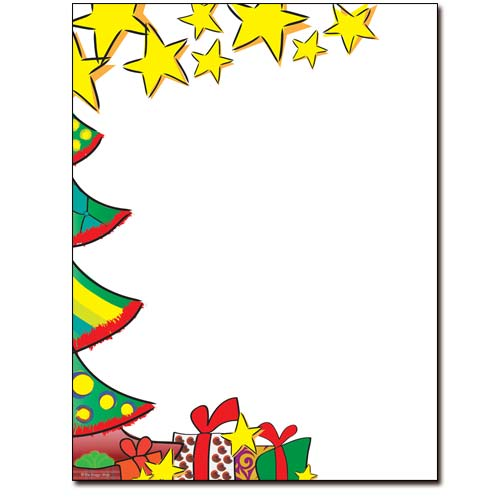 Christmas-Morning-Tree-Stars-Gifts-Paper-Letterhead