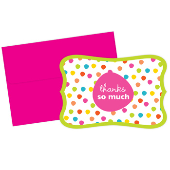 Circus Dots Thank You Note Cards
