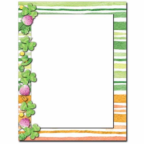 Clover Stripes Letterhead Paper
