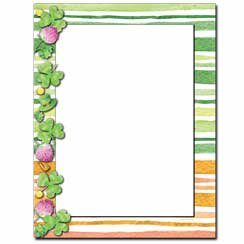 Clover Stripes Letterhead - 25 pack