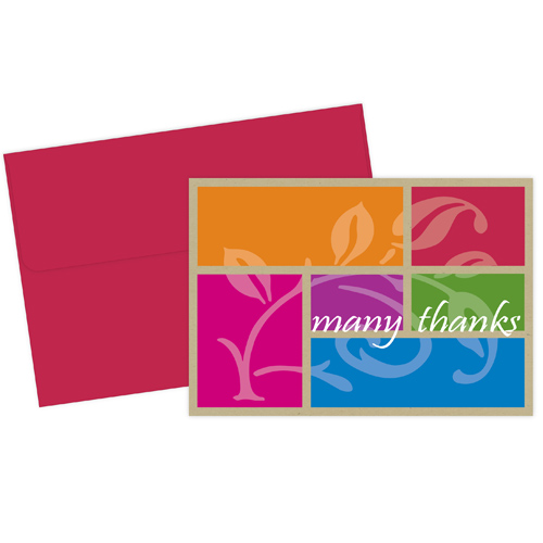 Color Block Thank You Note Card