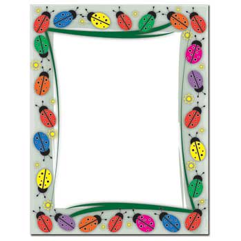 Colorful Ladybugs Letterhead