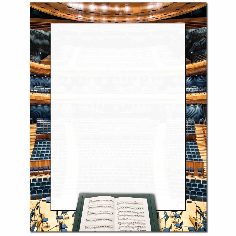 Concert Hall Letterhead - 25 pack