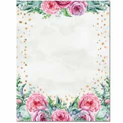Confetti Flowers Letterhead - 25 Pack