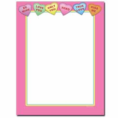 Conversation Hearts Letterhead - 25 pack