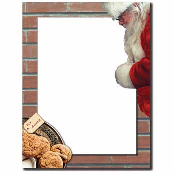 Cookies For Santa Letterhead