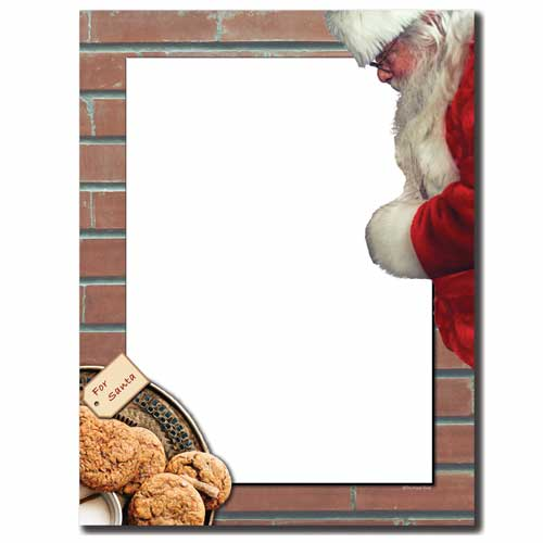Cookies For Santa Letterhead - 25 pack