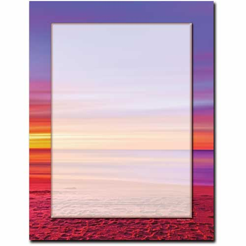 Cool-Colors-Beach-Sunset-Letterhead-Paper