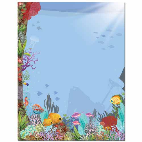 Coral Reef Letterhead