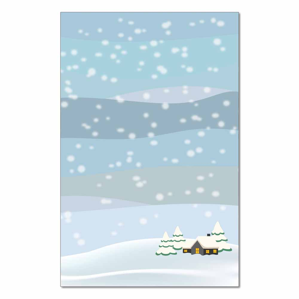 Country Cabin Jumbo Cards, 48pk