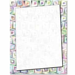 Crazy Squares Letterhead - 100 pack