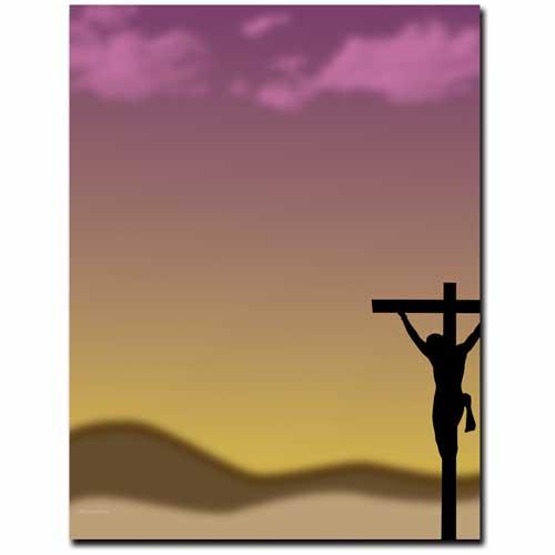 Crucifixion-Easter-Jesus-Letterhead-Paper