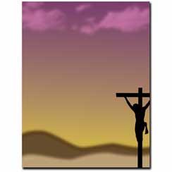 Crucifixion Letterhead - 100 pack