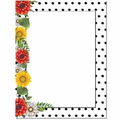 Daisy Dots Letterhead - 25 pack