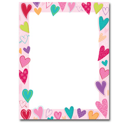 Dancing Hearts Letterhead - 80 pack