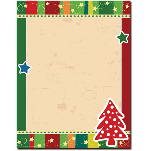 Dotted-Tree-Christmas-Letterhead-Stationery