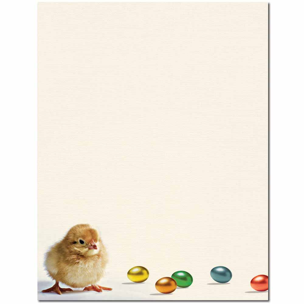 Easter Chick Letterhead - 100 pack