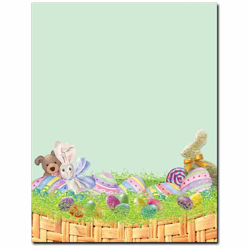 Easter Basket Letterhead Stationery