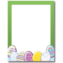 Easter Eggs Letterhead - 100 pack