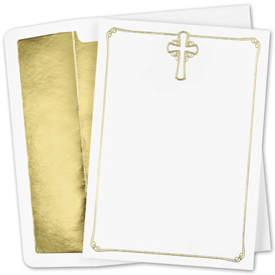 Foil Cross Flat Card