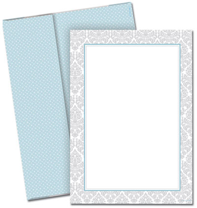 Fresh Slate Damask Invitations