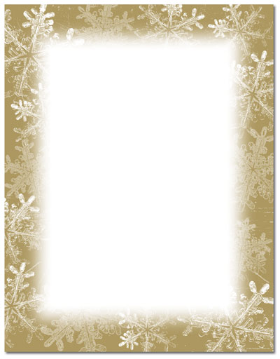 Frosted Holiday Wishes Letterhead, Christmas Stationery ...