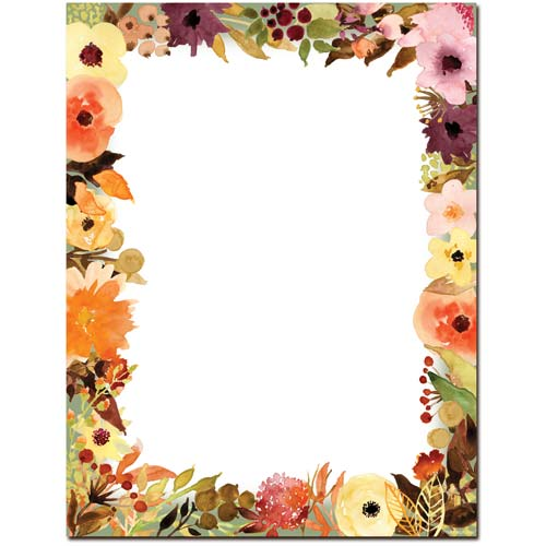 Fall-Floral-Letterhead-Paper