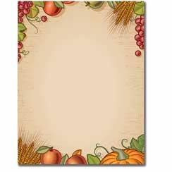 Fall Harvest Letterhead - 25 pack
