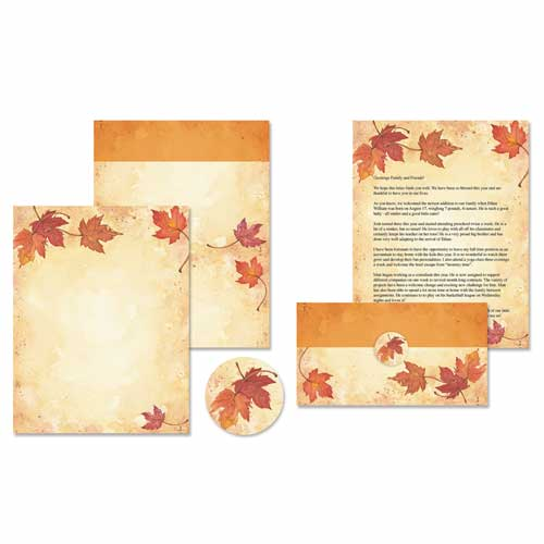 Fall Leaves Self Mailers Kit