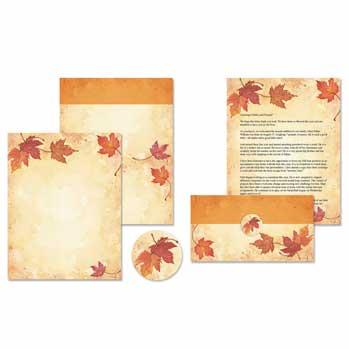 Fall Leaves Self Mailers Kit