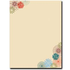 Fall Mums Letterhead - 25 pack
