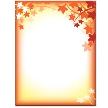 Fall Silhouette Letterhead