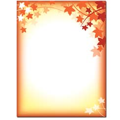 fall letterhead paper the image shop