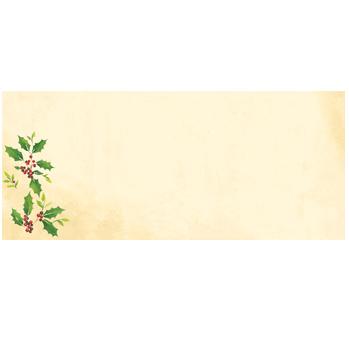 Falling Holly Envelopes