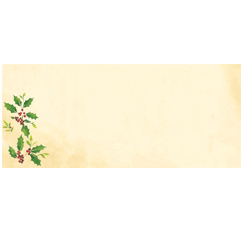 Falling Holly Envelopes - 25 Pack