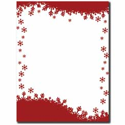 Falling Flakes Letterhead - 100 pack
