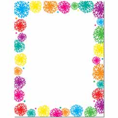 Fanciful Fireworks Letterhead - 100 pack