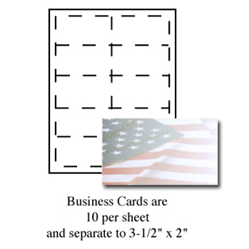 Flag Business Cards