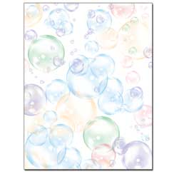 Floating Bubbles Letterhead - 25 pack