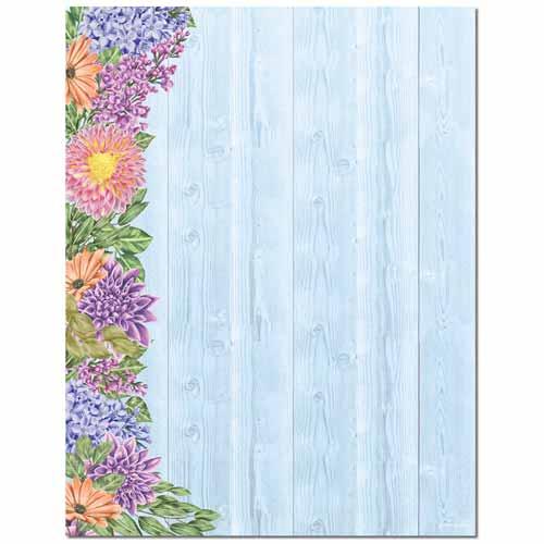 Floral Fence Letterhead