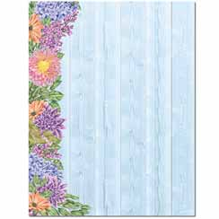 Floral Fence Letterhead - 25 pack