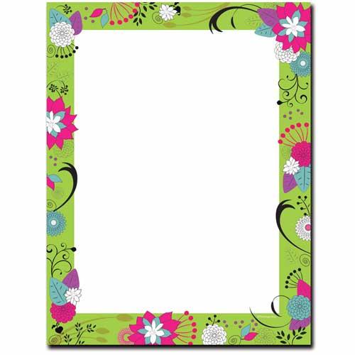 Floral-Green-Border-Letterhead