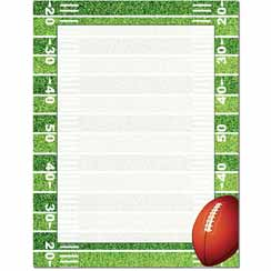 Football Field Letterhead - 100 pack