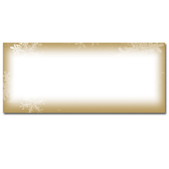 Frosted Holiday Wishes Envelopes