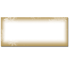 Frosted Holiday Wishes Envelopes - 25 Pack