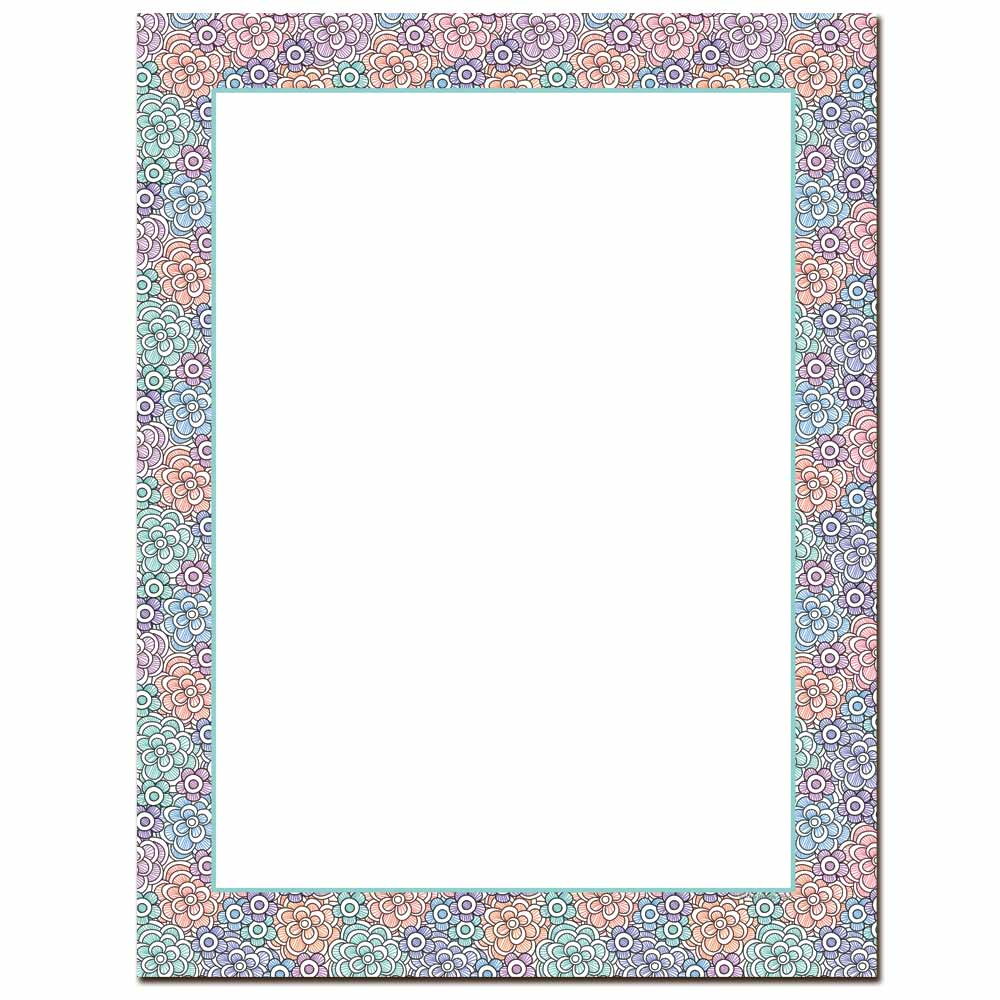 Fun Flowers Letterhead - 25 pack